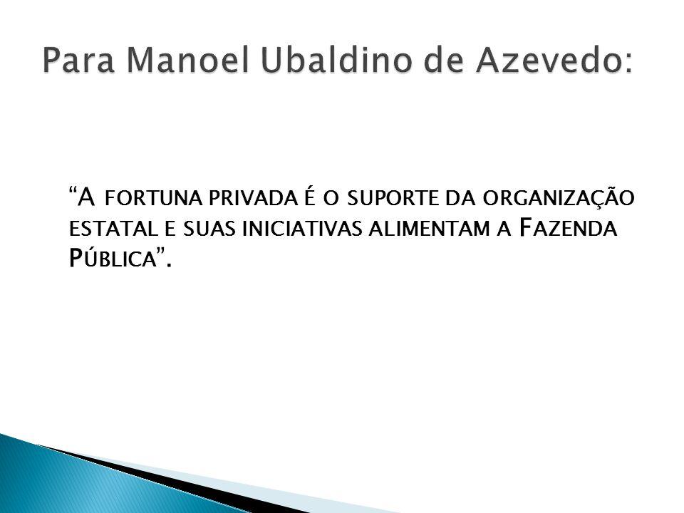 Para Manoel Ubaldino de Azevedo: