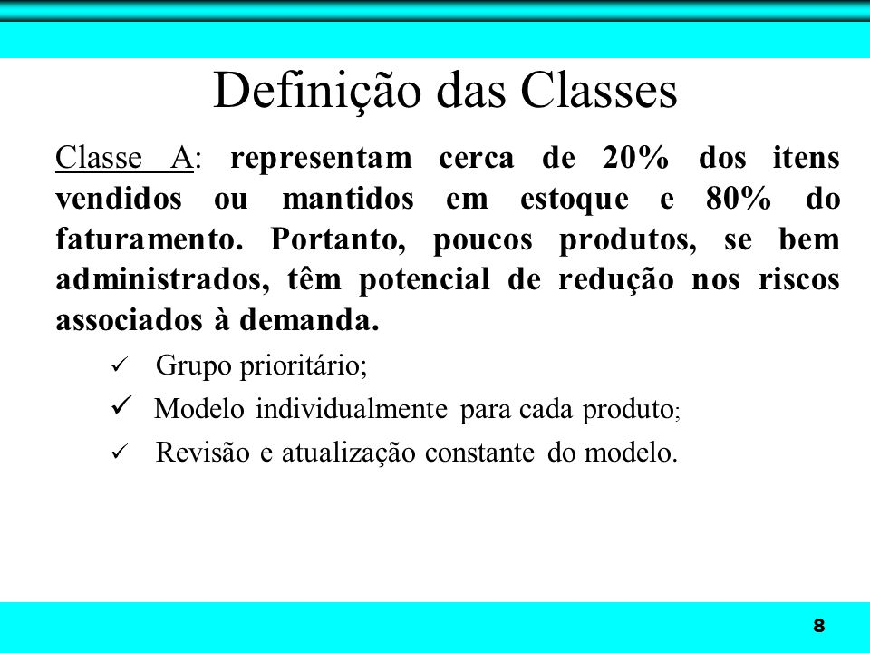 Definição das Classes