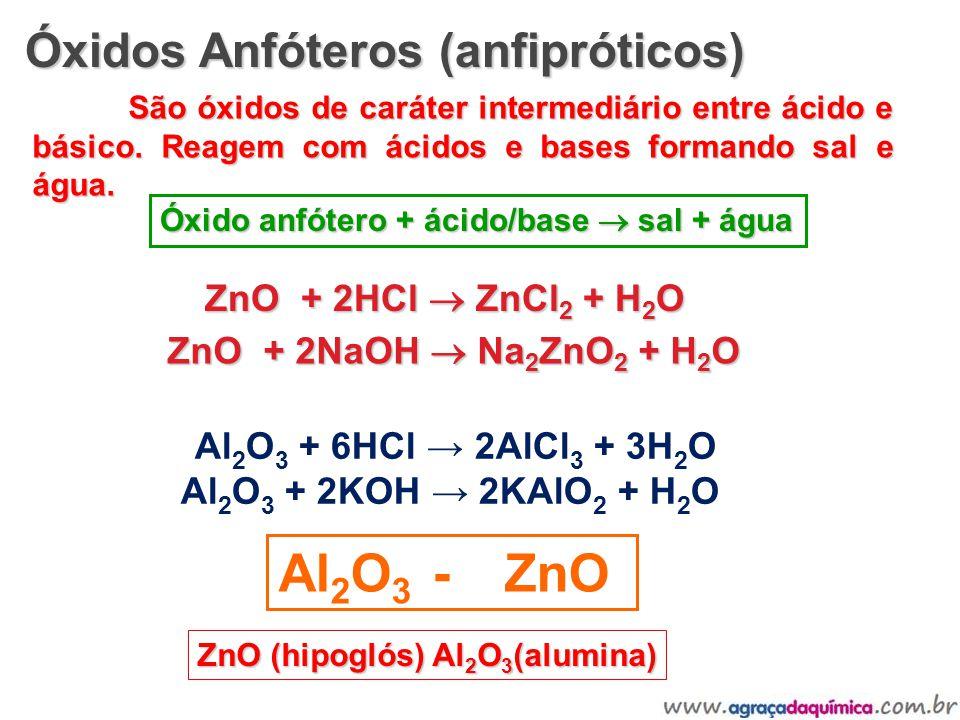 Al2O3 + 6HCl → 2AlCl3 + 3H2O Al2O3 + 2KOH → 2KAlO2 + H2O