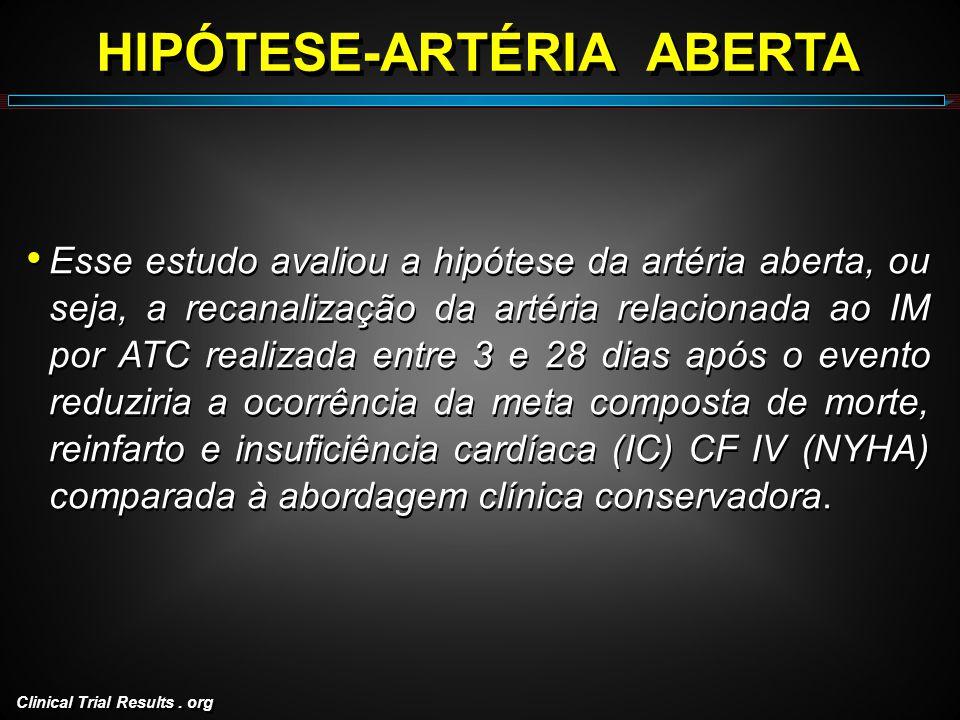HIPÓTESE-ARTÉRIA ABERTA