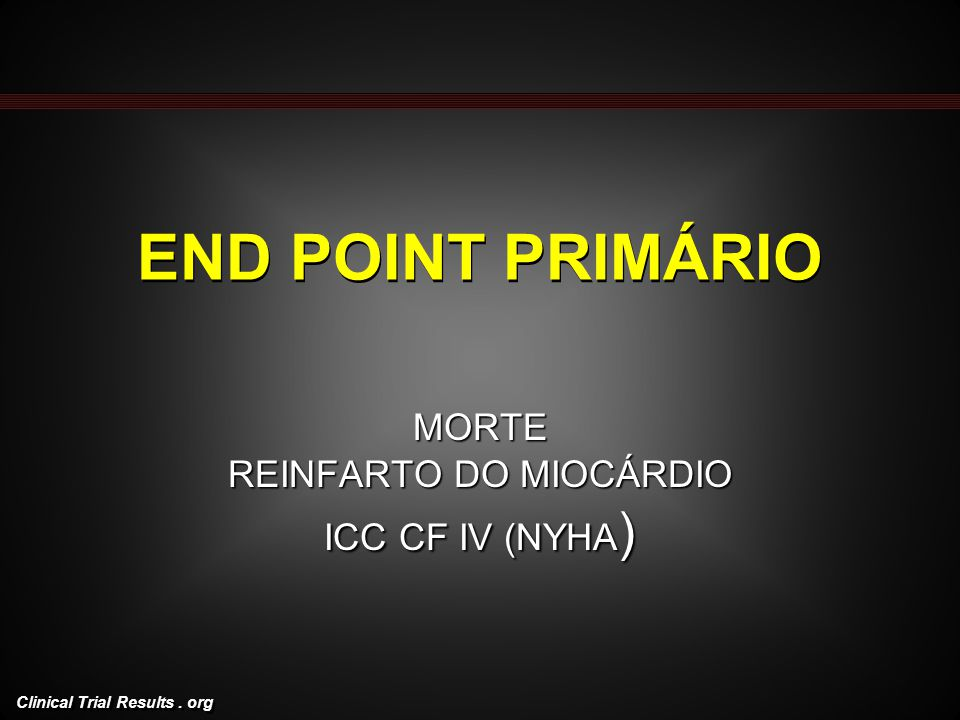 MORTE REINFARTO DO MIOCÁRDIO ICC CF IV (NYHA)