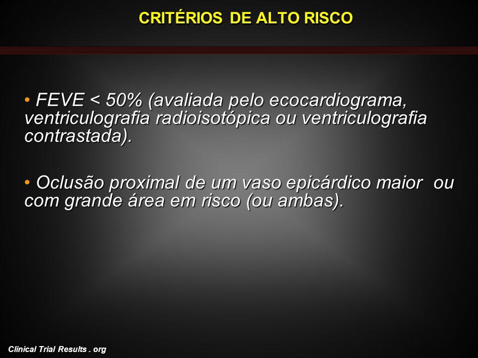 CRITÉRIOS DE ALTO RISCO