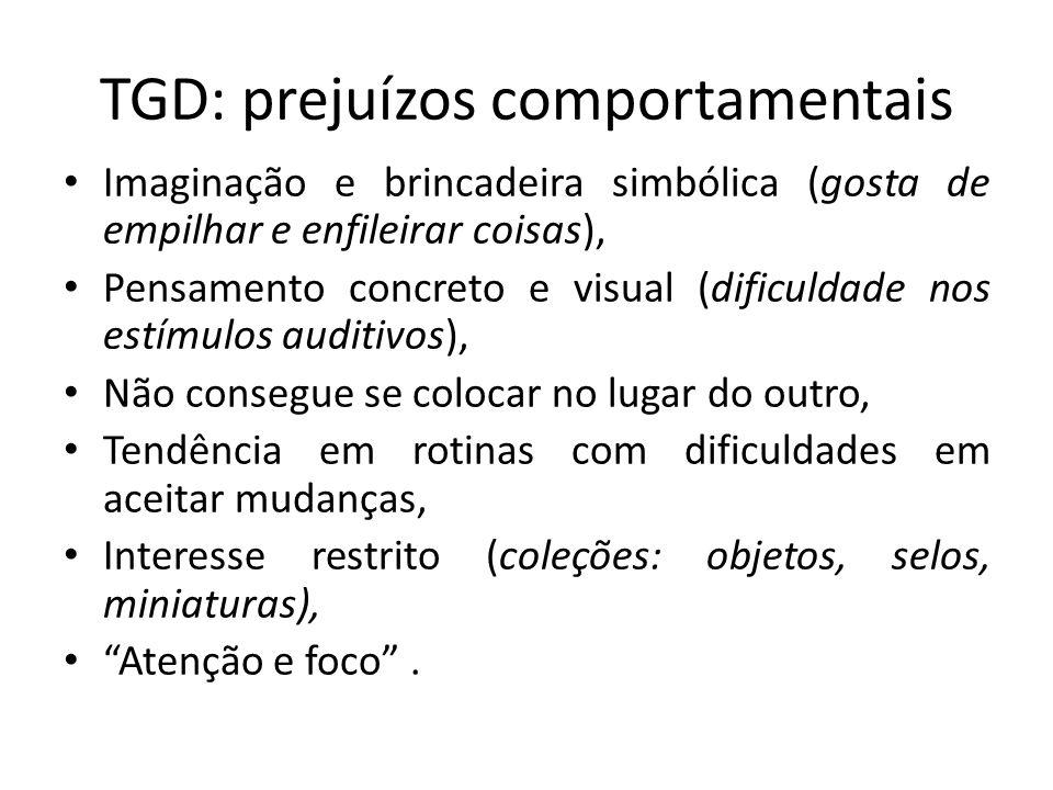 TGD: prejuízos comportamentais