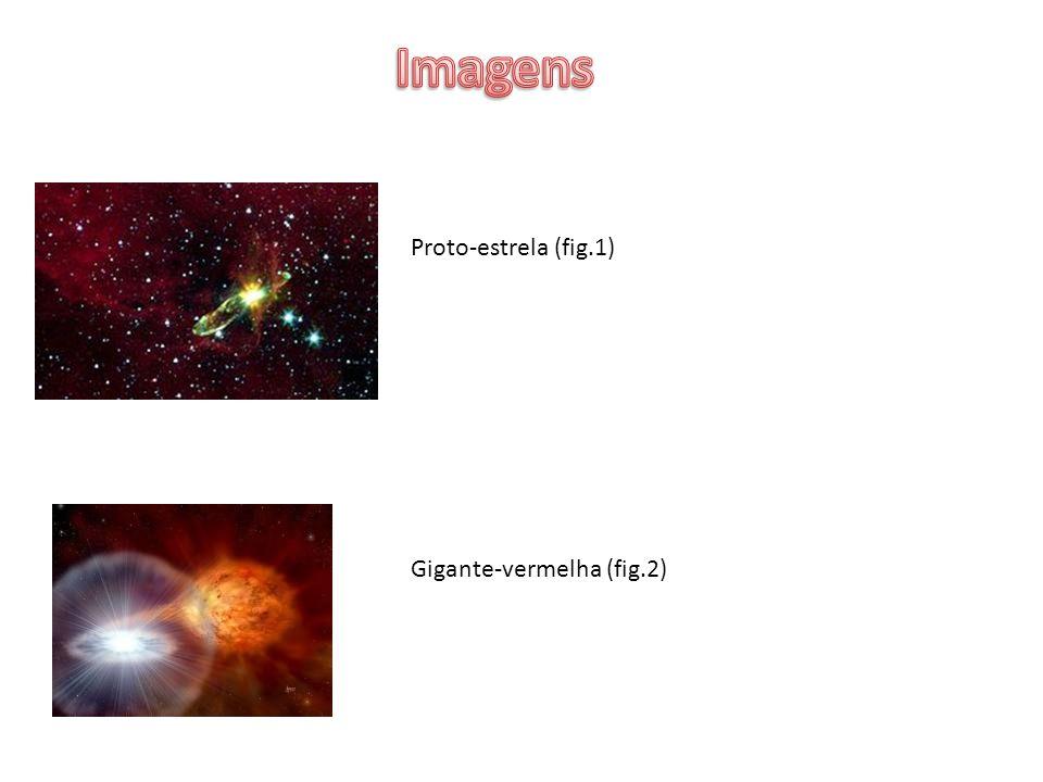 Imagens Proto-estrela (fig.1) Gigante-vermelha (fig.2)