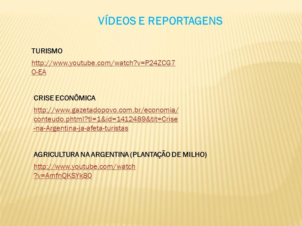 VÍDEOS E REPORTAGENS TURISMO