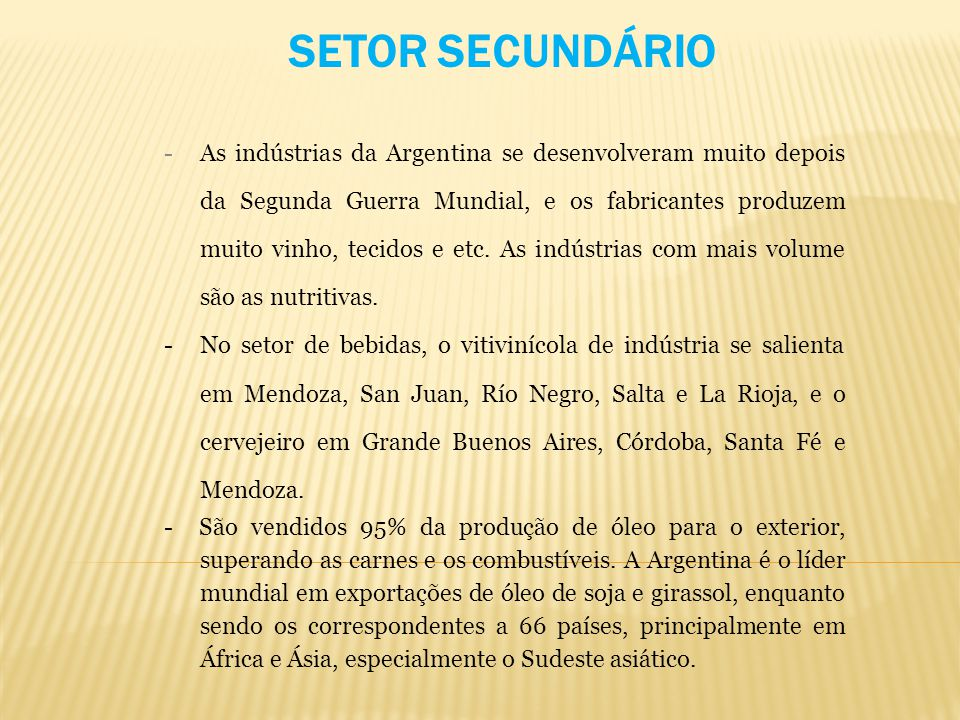 SETOR SECUNDÁRIO