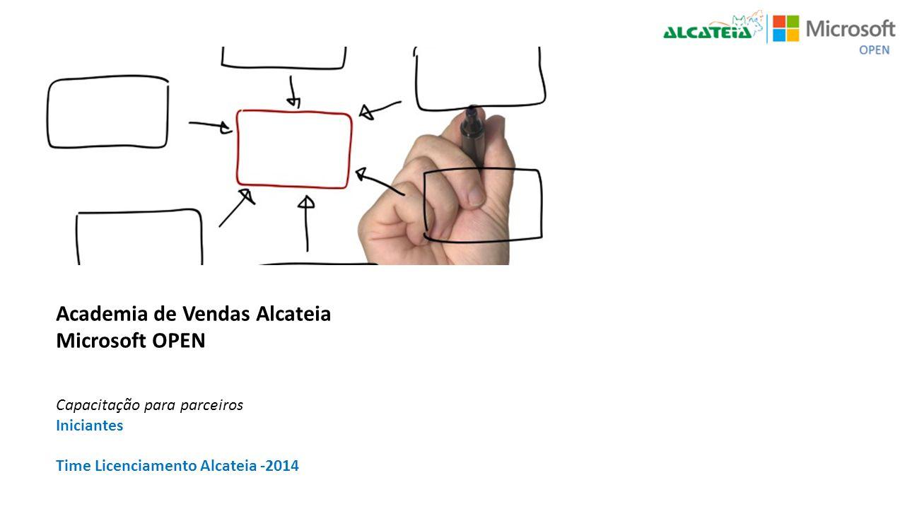 Academia de Vendas Alcateia Microsoft OPEN Capacitação para parceiros Iniciantes Time Licenciamento Alcateia -2014