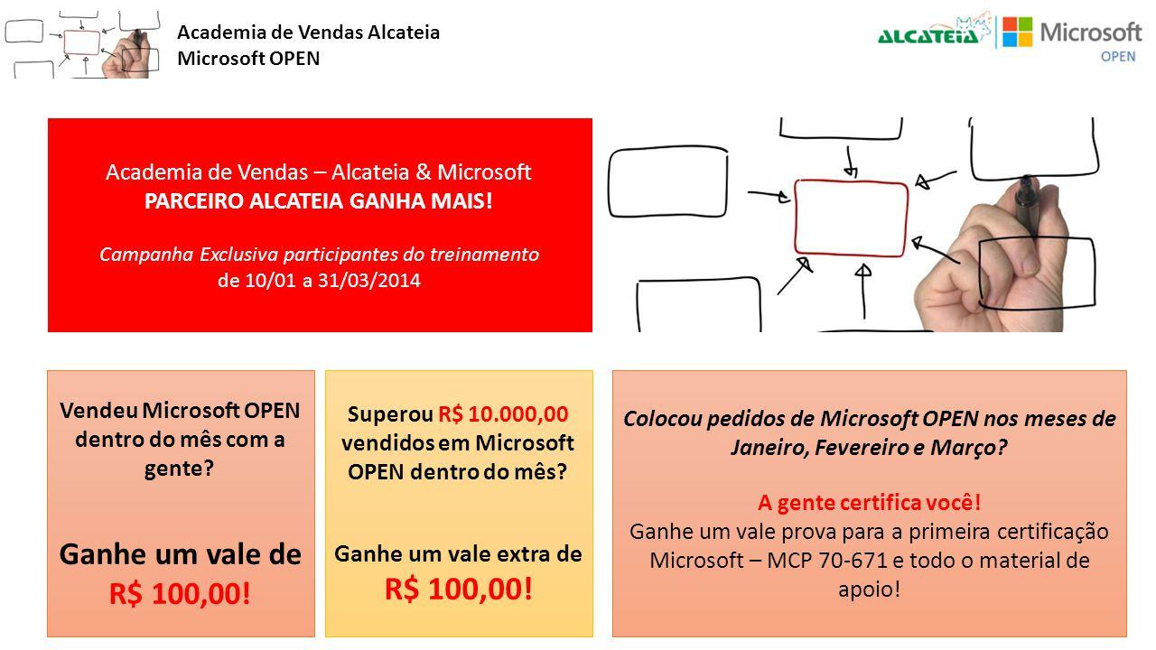 Vendeu Microsoft OPEN dentro do mês com a gente