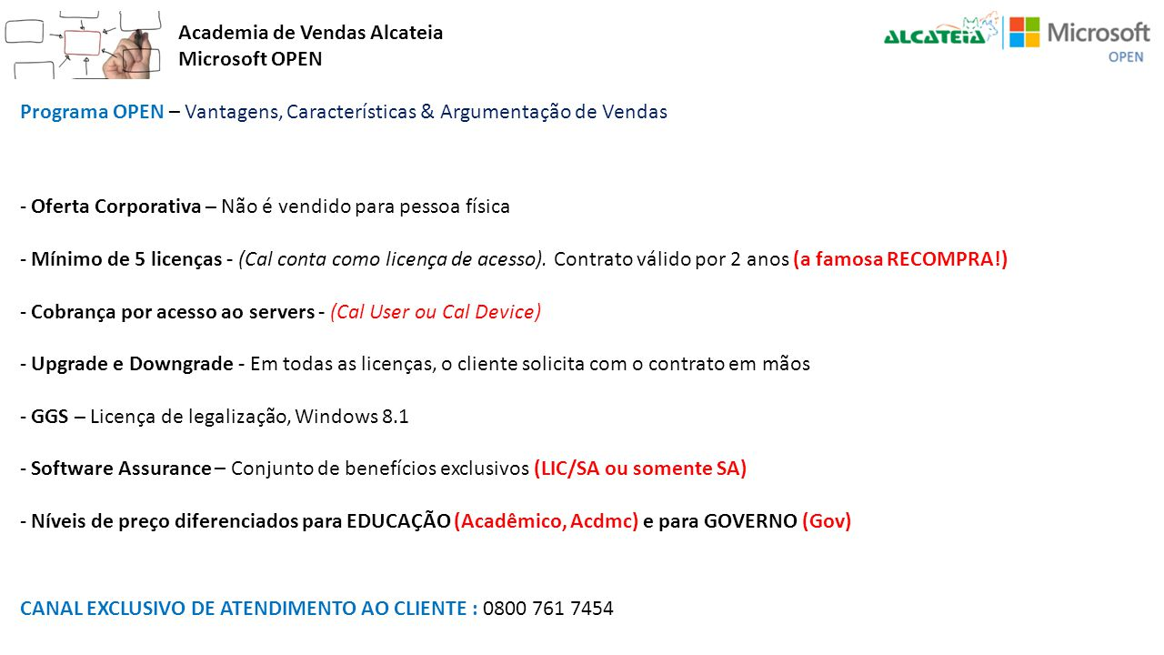 Academia de Vendas Alcateia Microsoft OPEN