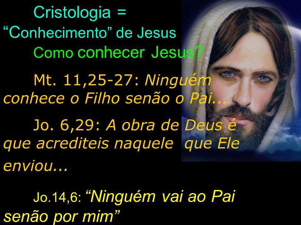 Cristologia = Conhecimento de Jesus Como conhecer Jesus