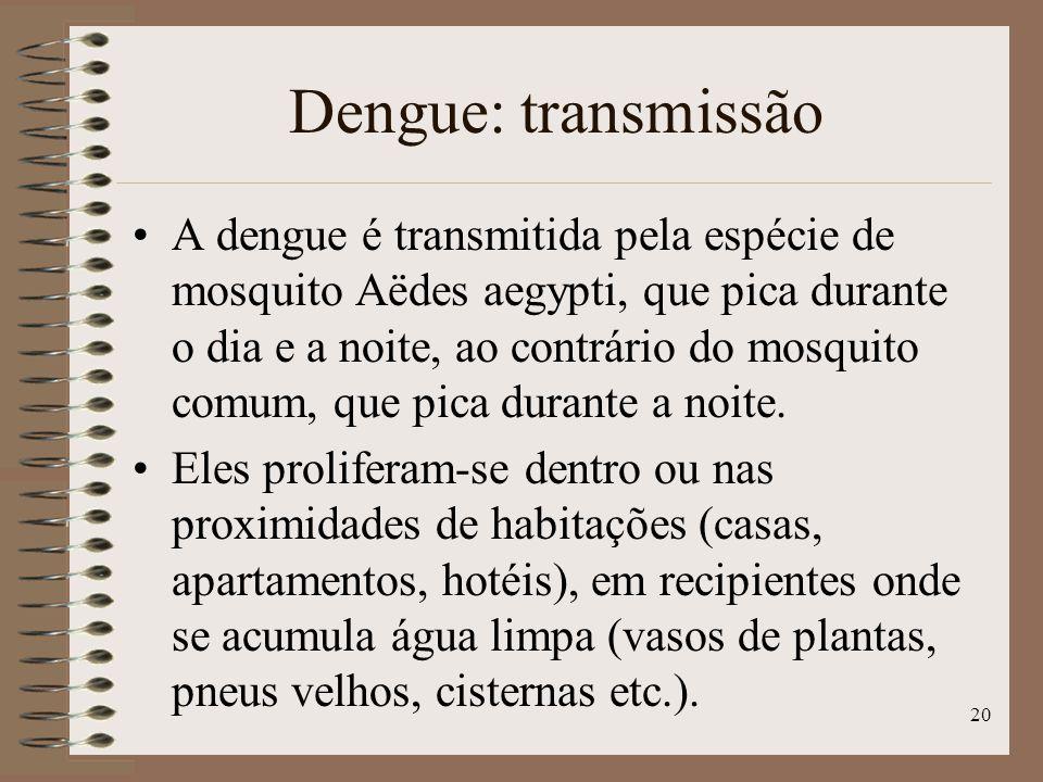Dengue: transmissão