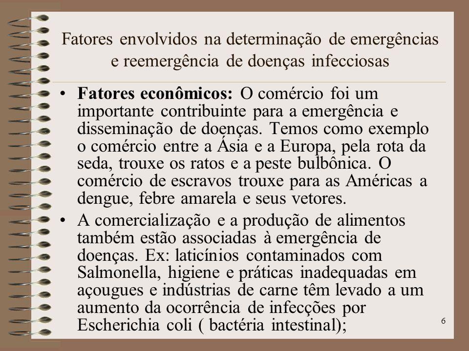 Fatores envolvidos na determinação de emergências e reemergência de doenças infecciosas