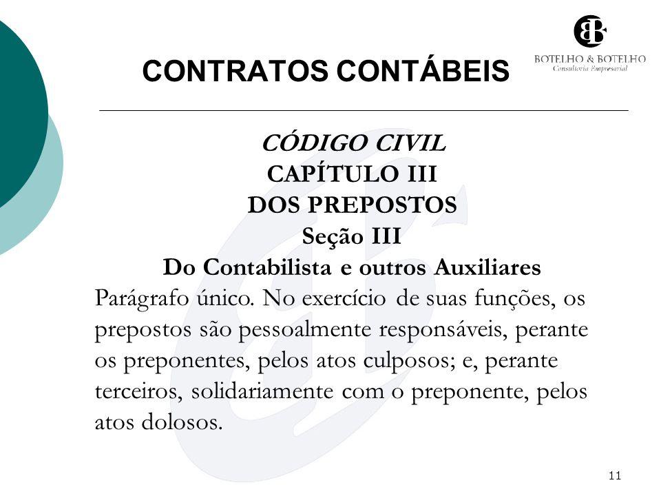 Seção III Do Contabilista e outros Auxiliares