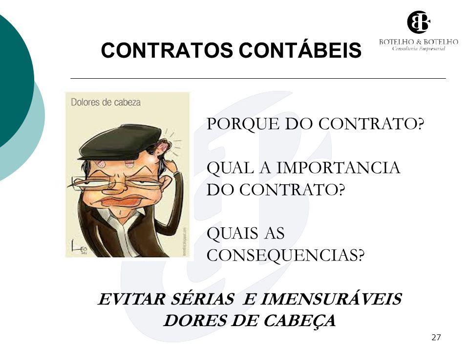 EVITAR SÉRIAS E IMENSURÁVEIS DORES DE CABEÇA