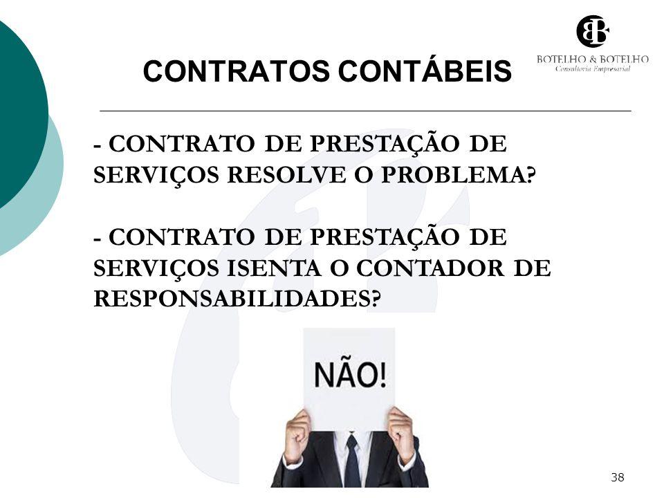 CONTRATOS CONTÁBEIS - CONTRATO DE PRESTAÇÃO DE SERVIÇOS RESOLVE O PROBLEMA