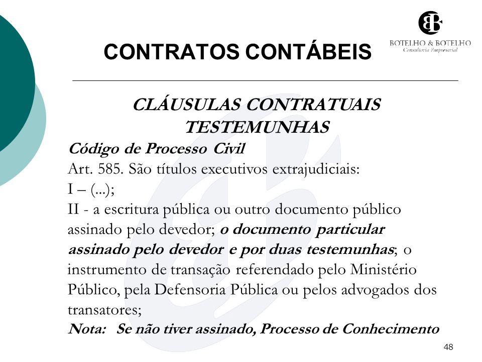 CLÁUSULAS CONTRATUAIS
