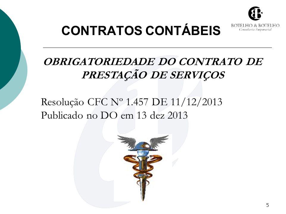 OBRIGATORIEDADE DO CONTRATO DE PRESTAÇÃO DE SERVIÇOS
