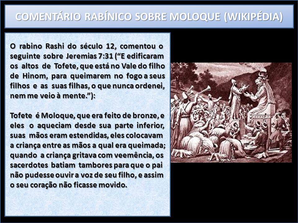 COMENTÁRIO RABÍNICO SOBRE MOLOQUE (WIKIPÉDIA)