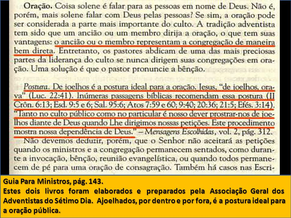 Guia Para Ministros, pág. 143.
