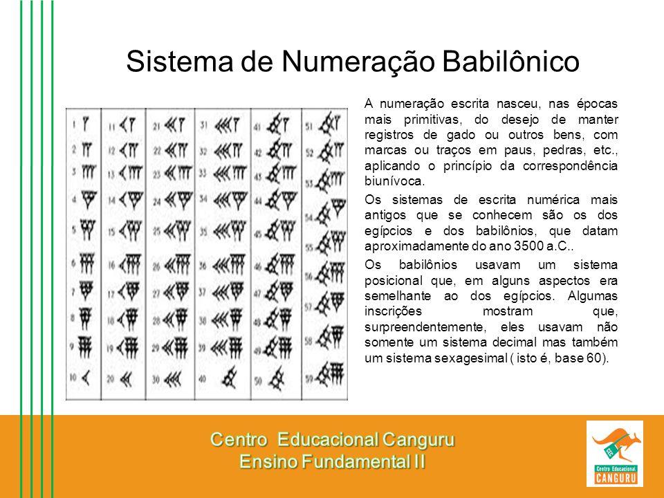 Sistema de Numeração Babilônico