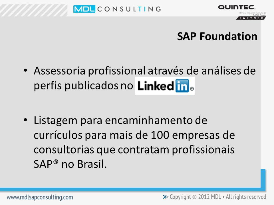 SAP Foundation Assessoria profissional através de análises de perfis publicados no.