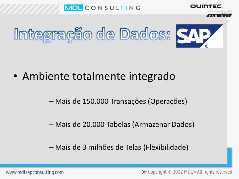 Integração de Dados: Ambiente totalmente integrado