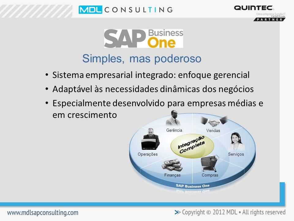 Simples, mas poderoso Sistema empresarial integrado: enfoque gerencial