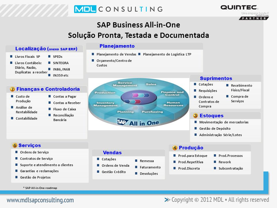 SAP Business All-in-One Solução Pronta, Testada e Documentada