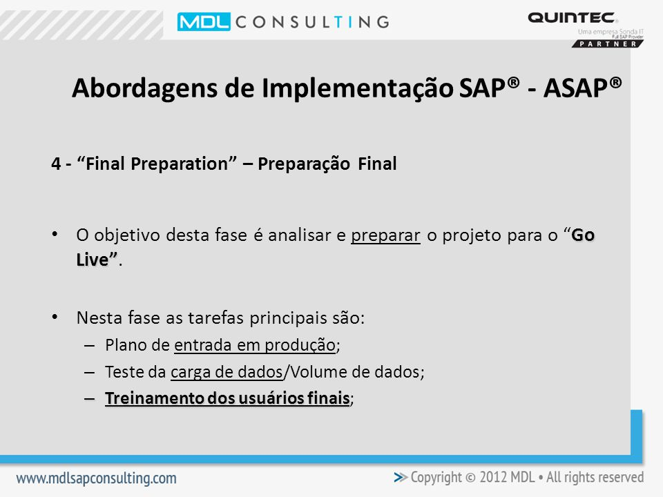 Abordagens de Implementação SAP® - ASAP®