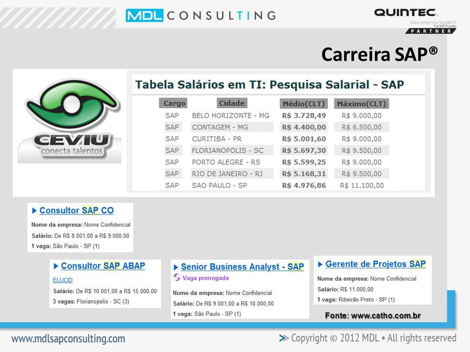 Carreira SAP® Fonte: www.catho.com.br
