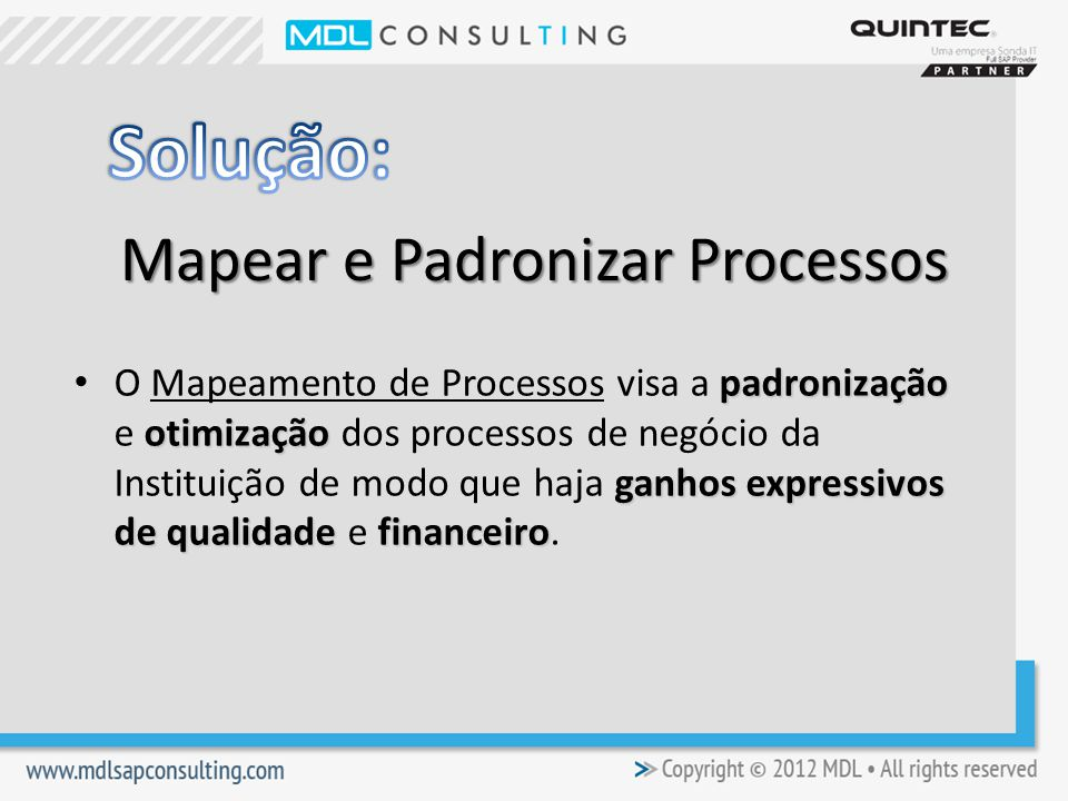 Mapear e Padronizar Processos