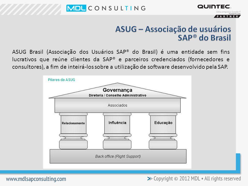 ASUG – Associação de usuários SAP® do Brasil