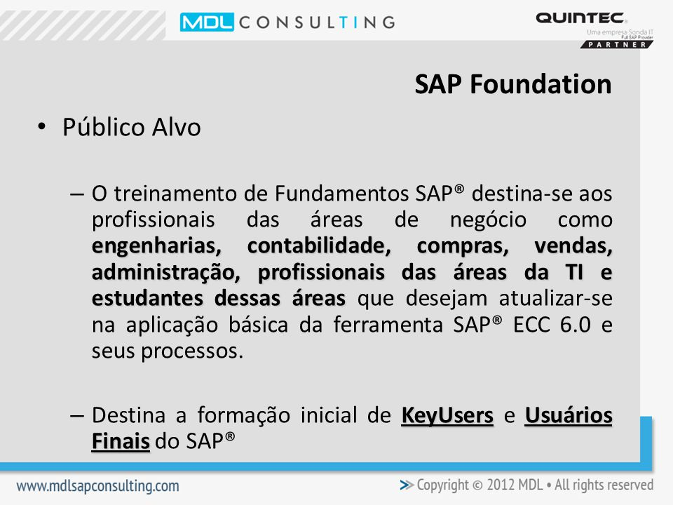 SAP Foundation Público Alvo