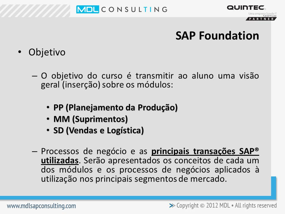 SAP Foundation Objetivo