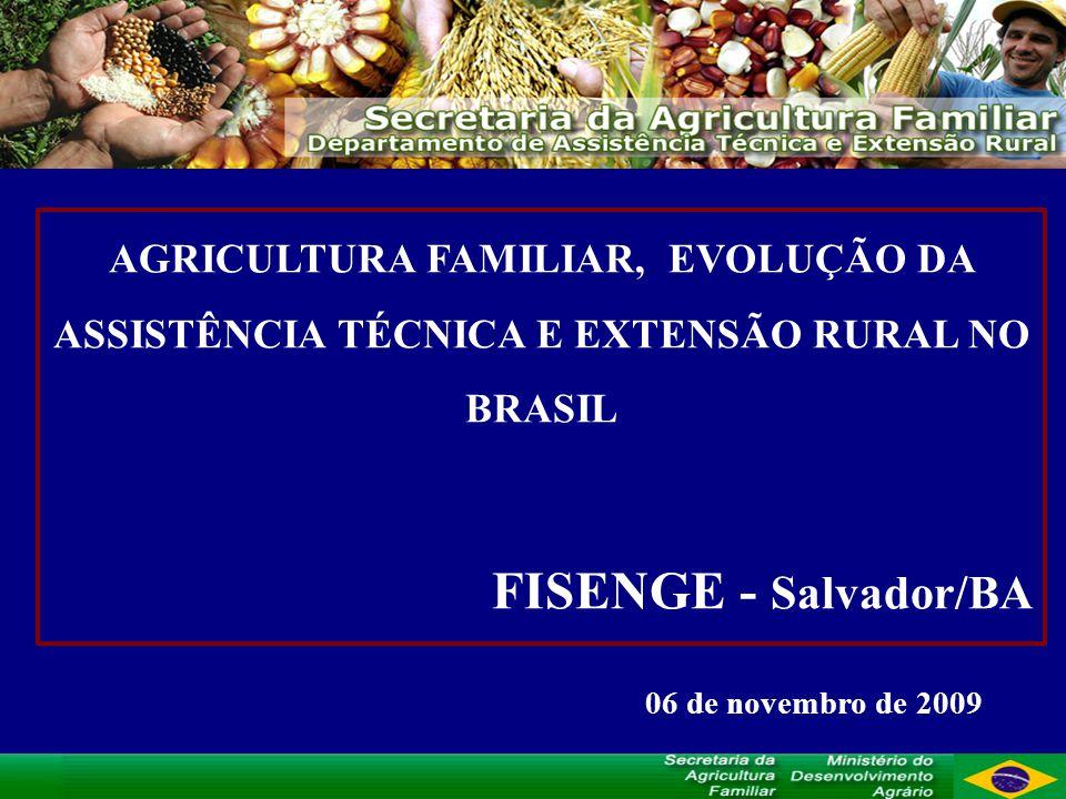 AGRICULTURA FAMILIAR, EVOLUÇÃO DA ASSISTÊNCIA TÉCNICA E EXTENSÃO RURAL NO BRASIL