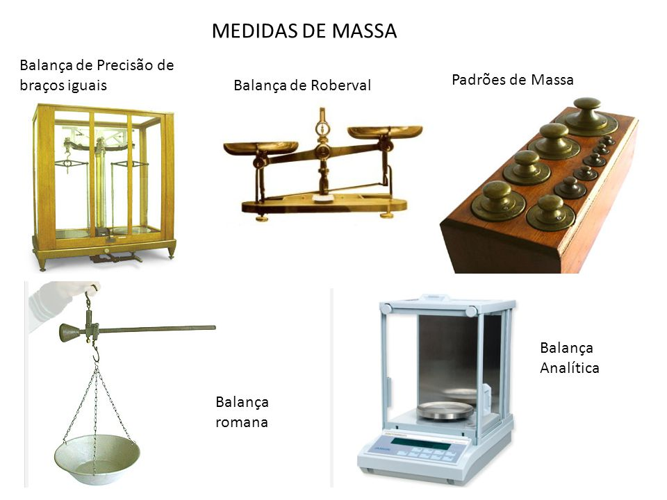 MEDIDAS DE MASSA Balança de Precisão de braços iguais Padrões de Massa