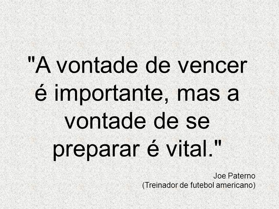 A vontade de vencer é importante, mas a vontade de se preparar é vital.