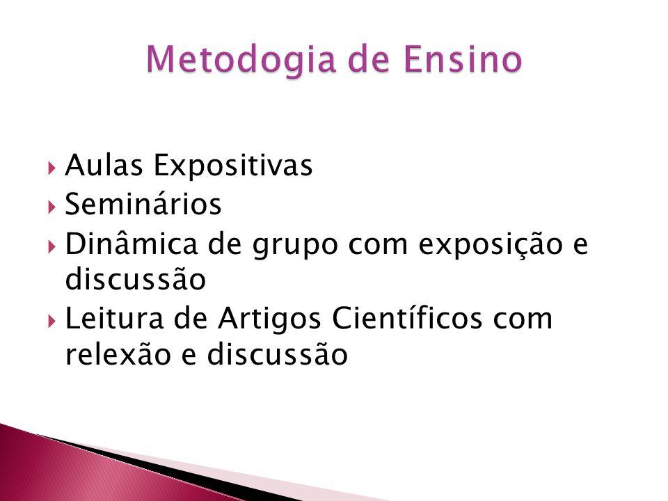 Metodogia de Ensino Aulas Expositivas Seminários