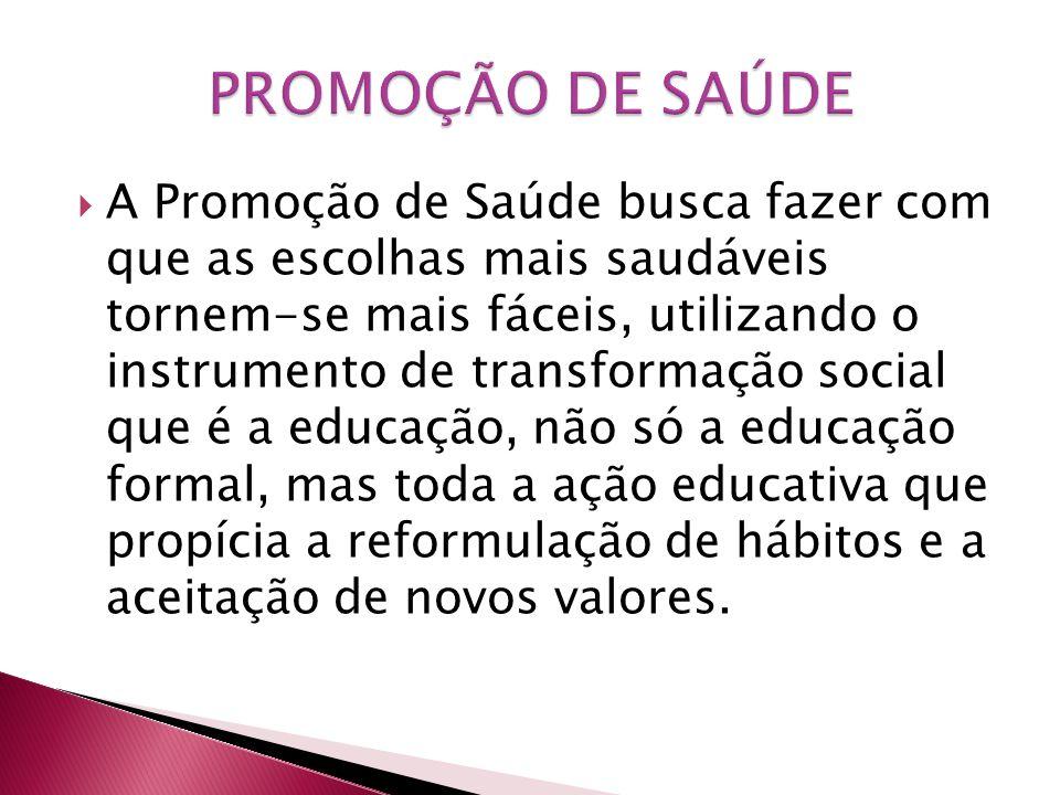 PROMOÇÃO DE SAÚDE
