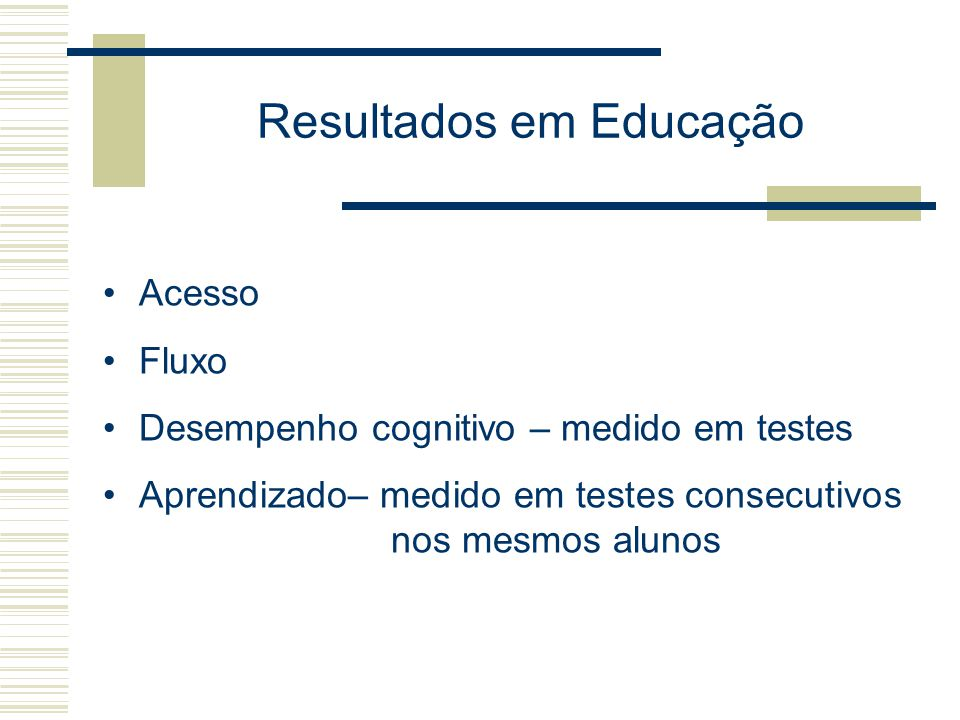 Resultados em Educação