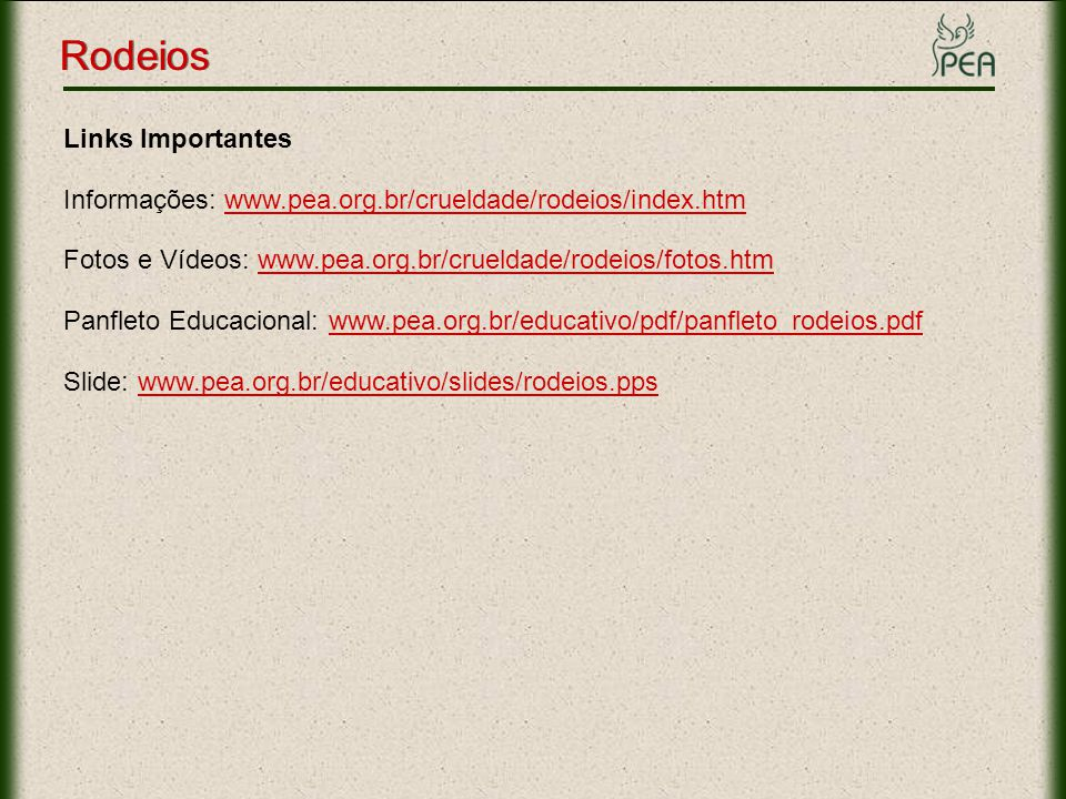 Rodeios Links Importantes