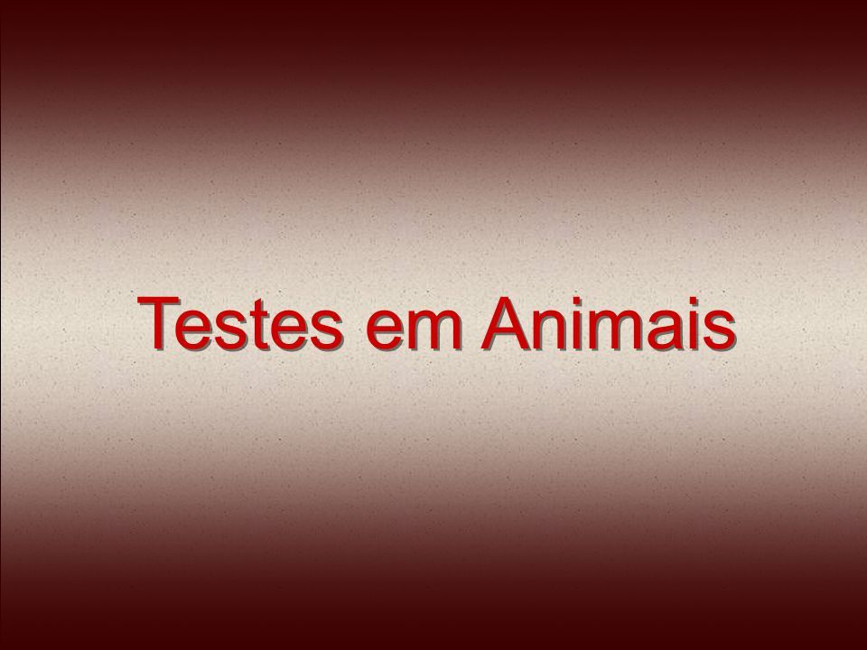 Testes em Animais