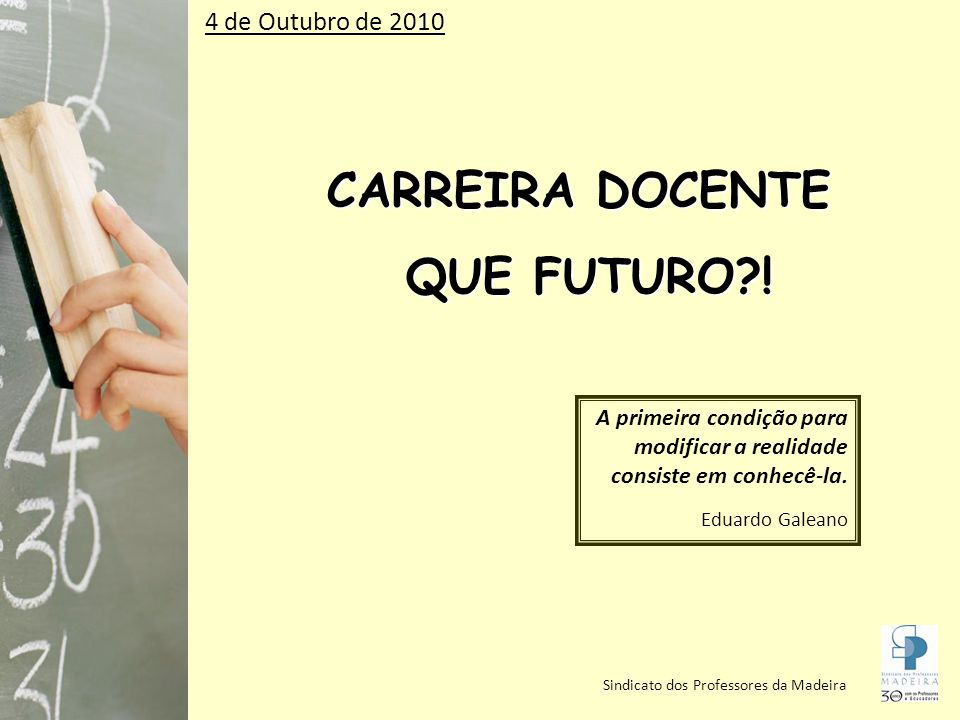 CARREIRA DOCENTE QUE FUTURO !