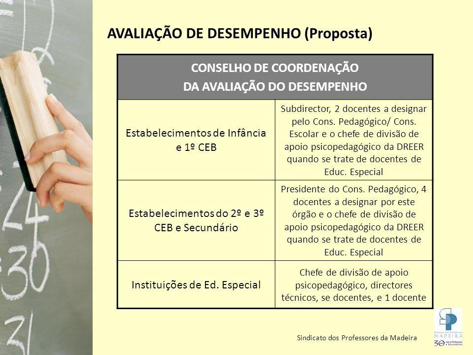 CONSELHO DE COORDENAÇÃO DA AVALIAÇÃO DO DESEMPENHO