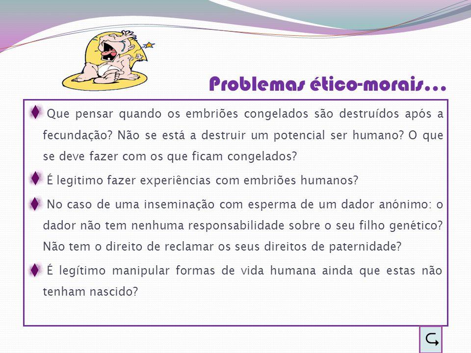 Problemas ético-morais…