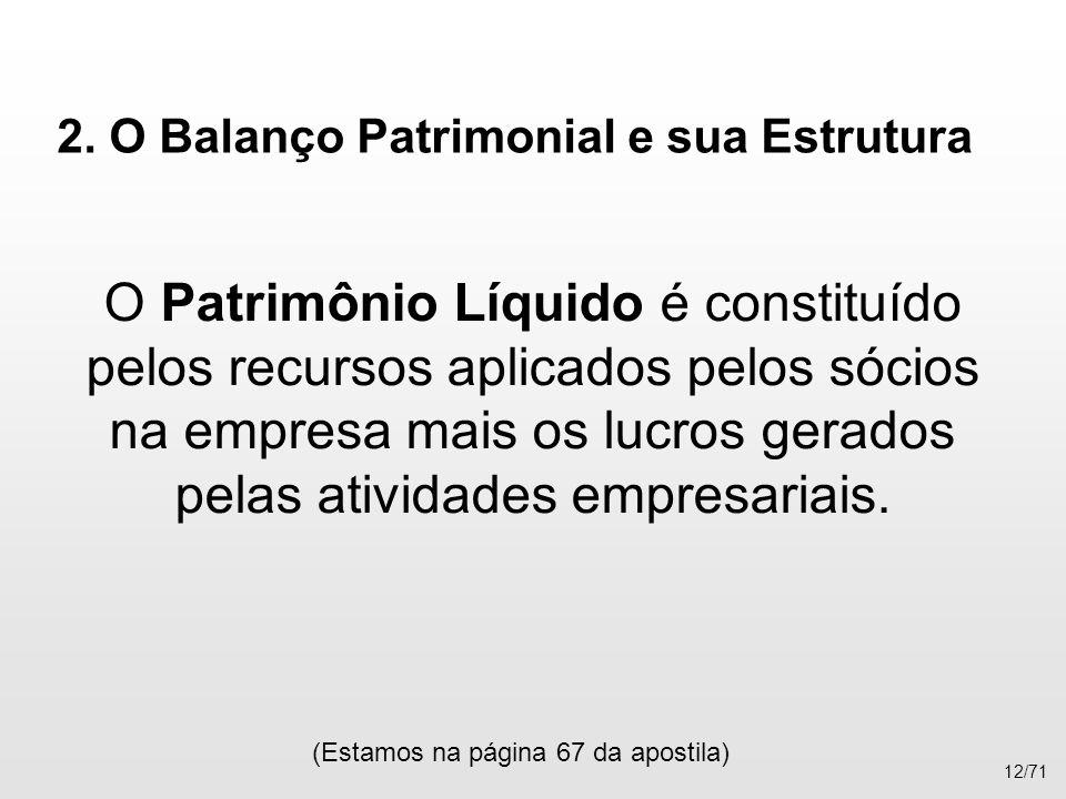 2. O Balanço Patrimonial e sua Estrutura