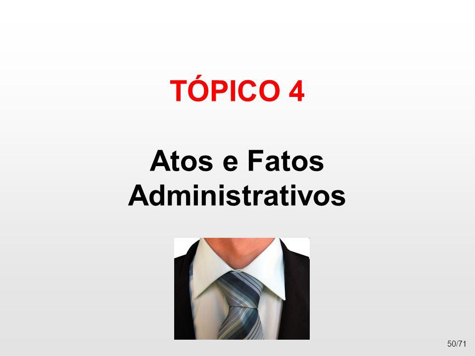 TÓPICO 4 Atos e Fatos Administrativos