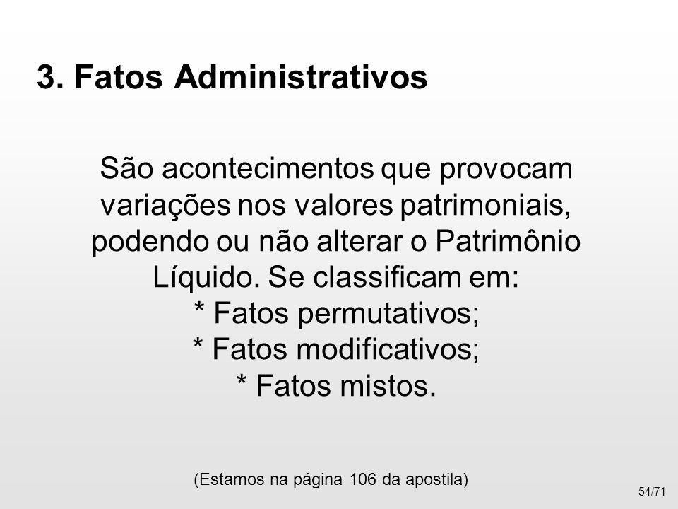 3. Fatos Administrativos
