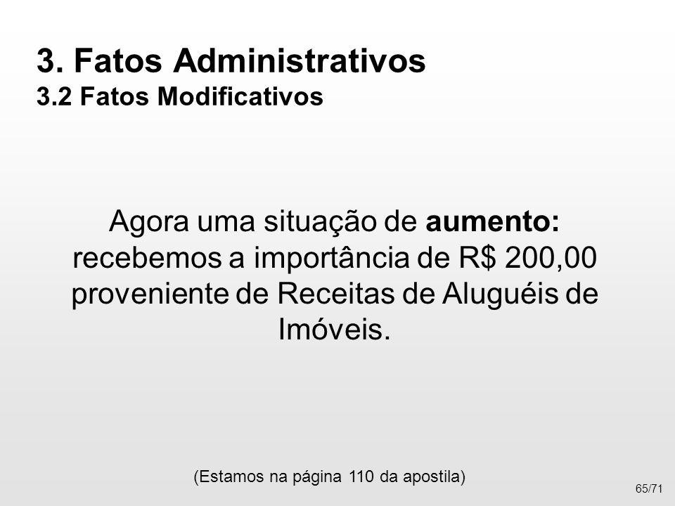 3. Fatos Administrativos 3.2 Fatos Modificativos