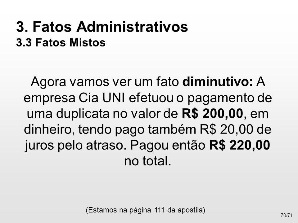 3. Fatos Administrativos 3.3 Fatos Mistos